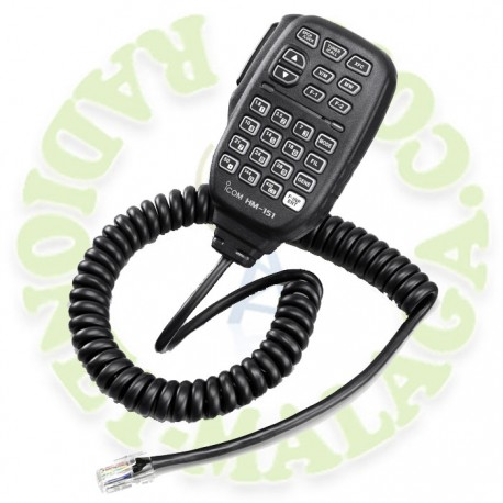 Micrófono con control remoto Icom HM151
