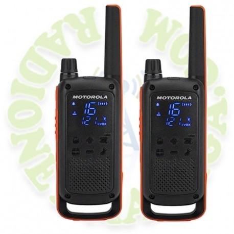 Pareja de portatiles PMR Motorola TLKR T82