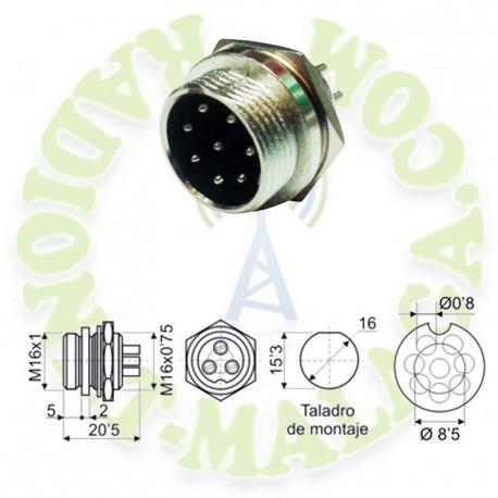Conector micro chasis 8 PIN