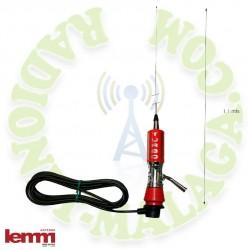 Antena 27 Mhz LEMM MINI TURBO ROJA