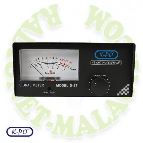 Smeter analogico para RX KPO S27
